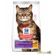 ALIMENTO HILLS ADULTOS SENSITIVE STOMACH & SKIN 3,5LB GATOS