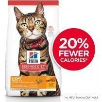 ALIMENTO HILLS ADULTOS 1-6 LIGHT 4LB GATOS